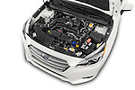 Car Stock 2015 Subaru Legacy 2.5i Premium 4 Door Sedan Engine high angle detail view