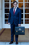 Spain's Minister of Health Salvador Illa attends the first cabinet meeting of the new government. January 14,2020. (ALTERPHOTOS/Ander Beizama)