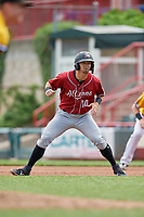 Altoona Curve Hunter Owen (10) leads off first base during an Eastern League game against the Erie SeaWolves and on June 4, 2019 at UPMC Park in Erie, Pennsylvania.  Altoona defeated Erie 3-0.  (Mike Janes/Four Seam Images)