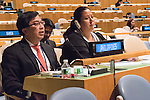 The representative of Philippines exercises his country's right of reply during the general debate of the General Assembly's seventy-first session<br /> <br /> <br /> <br /> General Assembly Seventy-first session 20th plenary meeting<br /> <br /> General Debate