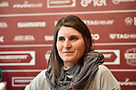 The press conference on the eve of the Strade Bianche and the Strade Bianche Women Elite featured last year's winner Elisa Longo Borghini (ITA) held in Palazzo Sansedoni in Piazza del Campo, Siena, Italy. 2nd March 2018.<br /> Picture: LaPresse/Massimo Paolone | Cyclefile<br /> <br /> <br /> All photos usage must carry mandatory copyright credit (© Cyclefile | LaPresse/Massimo Paolone)