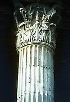 Italy: Rome--Temple of Vesta, detail. Corinthian Capital. Photo '82.