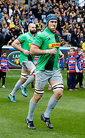Photo: Richard Lane/Richard Lane Photography. Wasps v Harlequins. Gallagher Premiership. 17/05/2019. Quins' James Horwill runs out for his final professional game.