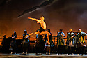 """Sisters Grimm present, """"INALA, a Zulu Ballet"""", in its West End debut at the Peacock Theatre. Choreographed by Mark Baldwin, and produced by the Sisters Grimm, the production features dancers from Rambert, Richard Alston Dance, Michael Clark Company, The Ailey School, Peter Schaufuss Ballet and English National Ballet, with live, on stage, music from Soweto Gospel Choir. The music was composed in collaboration between Ladysmith Black Mambazo and Ella Spira. Picture shows: Josh Harriette."""