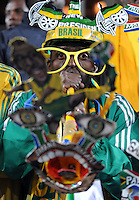 South Africa fan. Brazil defeated South Africa 1-0 during the semi-finals of the FIFA Confederations Cup at Ellis Park Stadium in Johannesburg, South Africa on June 25, 2009..
