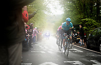 eventual winner Jakob FUGLSANG (DEN/Astana) up the last (categorised) climb of the day; the Côte de la Roche-aux-Faucons<br /> <br /> 105th Liège-Bastogne-Liège 2019 (1.UWT)<br /> One day race from Liège to Liège (256km)<br /> <br /> ©kramon