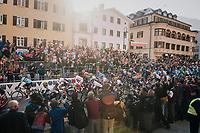 the race start<br /> <br /> MEN ELITE ROAD RACE<br /> Kufstein to Innsbruck: 258.5 km<br /> <br /> UCI 2018 Road World Championships<br /> Innsbruck - Tirol / Austria