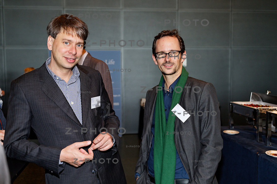 v.l.n.r. Marc Lustenberger - media-work gmbh, Balthasar<br /> Glaettli - Nationalrat Gruene am SwissMediaForum am 23. Mai 2013 im KKL Luzern<br /> <br /> Copyright © Zvonimir Pisonic