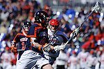 Face-Off Classic:  Attackman Matt White #4 of the Virginia Cavaliers during the Virginia v Cornell mens lacrosse game at M&T Bank Stadium on March 10, 2012 in Baltimore, Maryland. (Ryan Lasek/Eclipse Sportswire)