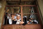 Syrian Druze community teenagers teenage girls wearing traditional tribal ethnic clothing Golan Heights Israel 1980s