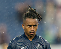 FOXBOROUGH, MA - JULY 17: Yordy Reyna #29 during a game between Vancouver Whitecaps and New England Revolution at Gillette Stadium on July 17, 2019 in Foxborough, Massachusetts.