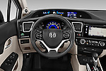 Car pictures of steering wheel view of a 2015 Honda Civic CNG 4 Door Sedan