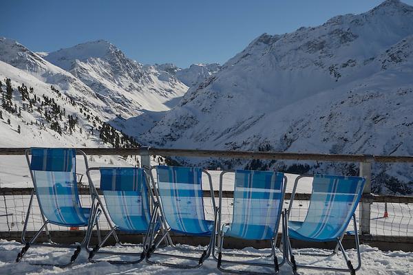 Rendlbeach at Rendl Ski Area, at St Anton, Austria,