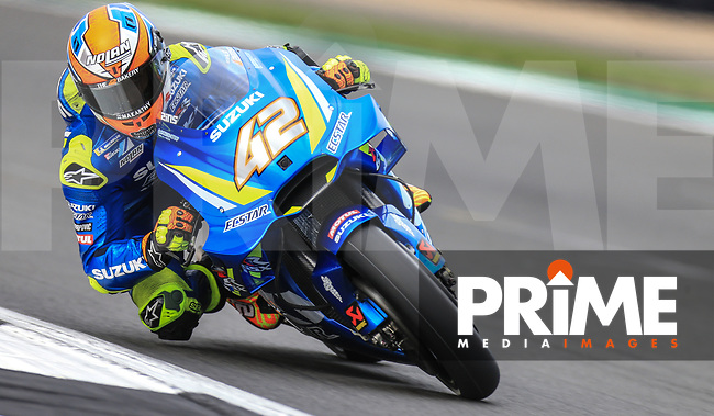 Alex Rins (42) of the Team SUZUKI ECSTAR race team during the GoPro British MotoGP at Silverstone Circuit, Towcester, England on 26 August 2018. Photo by Chris Brown / PRiME Media Images