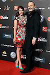 Actress Andrea Duro (l) and singer Miguel Bose during Barcelona 5th AIDS Ceremony. November 24,2014.(ALTERPHOTOS/Acero)