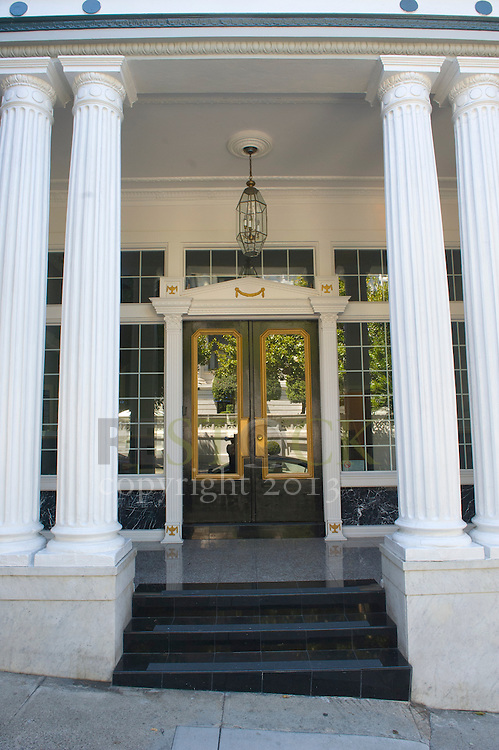 Front Steps with Pillars