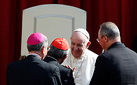 Pope Francis greets some prelates at the end of his weekly general audience in St. Damaso courtyard at the Vatican, September 16, 2020.<br /> UPDATE IMAGES PRESS/Riccardo De Luca<br /> <br /> STRICTLY ONLY FOR EDITORIAL USE