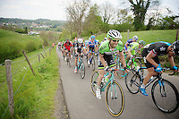 local rider Laurens Ten Dam (NLD/Belkin) up the 'steepest climb' in Holland: Keutenberg (max 22%)<br /> <br /> Amstel Gold Race 2014