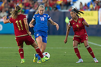 Finland's Linda Sallstrom and Spain's Alexia Putellas and Leila Ouahabi during the match of  European Women's Championship 2017 at Leganes, between Spain and Finland. September 20, 2016. (ALTERPHOTOS/Rodrigo Jimenez) NORTEPHOTO