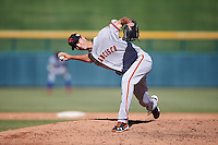 Scottsdale Scorpions pitcher Tyler Rogers (47), of the San Francisco Giants organization, during a game against the Mesa Solar Sox on October 21, 2016 at Sloan Park in Mesa, Arizona.  Mesa defeated Scottsdale 4-3.  (Mike Janes/Four Seam Images)