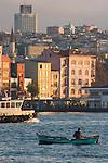 Istanbul, Turkey, Galata district, Karakoy, Golden Horn, Bosphorus, Turkish urban architecture, local fisherman