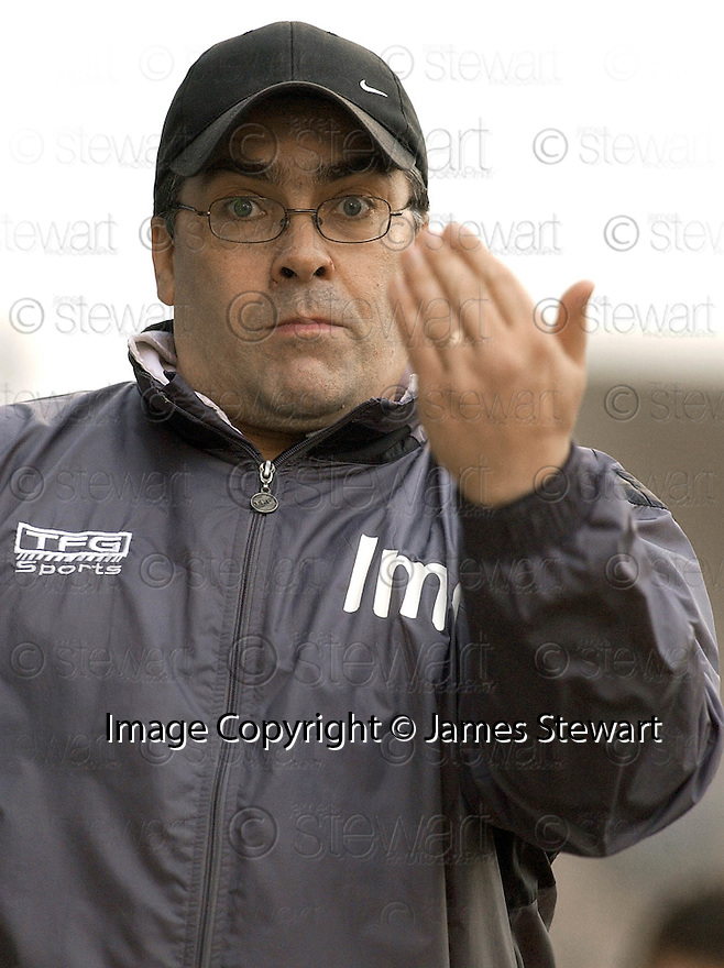 05/02/2005  Copyright Pic : James Stewart.File Name : jspa32_qots_v_dundee_utd.DUNDEE UTD MANAGER IAN MCCALL DURING THE SCOTTISH CUP 4TH ROUND CLASH AGAINST QUEEN OF THE SOUTH...Payments to :.James Stewart Photo Agency 19 Carronlea Drive, Falkirk. FK2 8DN      Vat Reg No. 607 6932 25.Office     : +44 (0)1324 570906     .Mobile   : +44 (0)7721 416997.Fax         : +44 (0)1324 570906.E-mail  :  jim@jspa.co.uk.If you require further information then contact Jim Stewart on any of the numbers above.........A