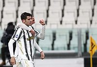 Calcio, Serie A: Juventus FC - S.S.Lazio, Turin, Allianz Stadium, March 6, 2021.<br /> Juventus' Alvaro Morata (r) celebrates after scoring his second goal in the match with his teammate Adrien Rabiot (l) during the Italian Serie A football match between Juventus and Lazio at the Allianz stadium in Turin, on March 6, 2021.<br /> UPDATE IMAGES PRESS/Isabella Bonotto