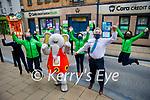 The staff of the Cara Credit Union jump for joy after completing the Jerusalema dance challenge on Tuesday. Front l to r: Front l to r: Sonya O'Brien, Christine Fitzgerald, Ellie the elephant and Derry Fleming. Back l to r: Ciara Oakley, Jenny McMahon, Helen Geary, Phyllis Healy, Brian O'Sullivan and Nichole Comerford.