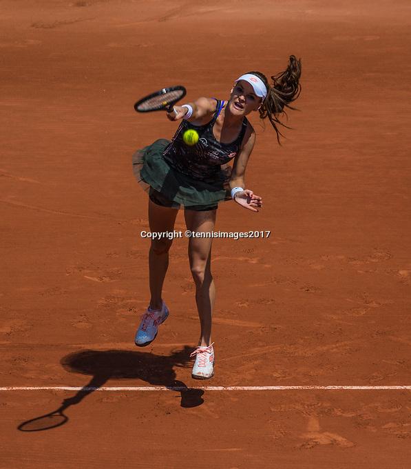 Paris, France, 1 June, 2017, Tennis, French Open, Roland Garros, Agnieszka Radwanska (POL)<br /> Photo: Henk Koster/tennisimages.com