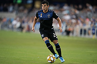 SAN JOSE, CA - SEPTEMBER 25: Nick Lima #24 of the San Jose Earthquakes during a Major League Soccer (MLS) match between the San Jose Earthquakes and the Philadelphia Union on September 25, 2019 at Avaya Stadium in San Jose, California.