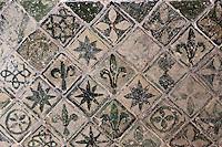 Europe/France/Midi-Pyrénées/32/Gers/Valence-sur-Baïse: Abbaye de Flaran _ Mosaîque gallo-romaine, ancien pavage vernissé de la cuisine