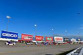 #11: Denny Hamlin, Joe Gibbs Racing, Toyota Camry Federal Express, #9: Chase Elliott, Hendrick Motorsports, Chevrolet Camaro NAPA Auto Parts Throwback