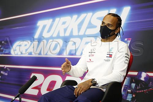12th November 2020; Istanbul Park, Istanbul, Turkey;  FIA Formula One World Championship 2020, Grand Prix of Turkey, 44 Lewis Hamilton GBR, Mercedes-AMG Petronas Formula One Team pre race press conference