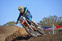 Jesse Dobson / KTM<br /> 2016 MX Nationals / Round 1 / MX1<br /> Australian Motocross Championships<br /> Horsham VIC Sunday 3 April 2016<br /> © Sport the library / Jeff Crow
