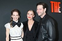 """LOS ANGELES - MAR 9:  Hilary Swank, Betty Gilpin, Ike Barinholtz at the """"The Hunt"""" Premiere at the ArcLight Hollywood on March 9, 2020 in Los Angeles, CA"""