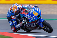27th August 2021; Silverstone Circuit, Silverstone, Northamptonshire, England; MotoGP British Grand Prix, Practice Day; CarXpert Prustel GP rider Ryusei Yamanaka on his KTM RC250GP in the Moto3 category
