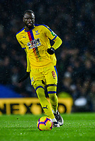 Cheikhou Kouyate of Crystal Palace (8) In action ,during the Premier League match between Brighton and Hove Albion and Crystal Palace at the American Express Community Stadium, Brighton and Hove, England on 4 December 2018. Photo by Edward Thomas / PRiME Media Images.