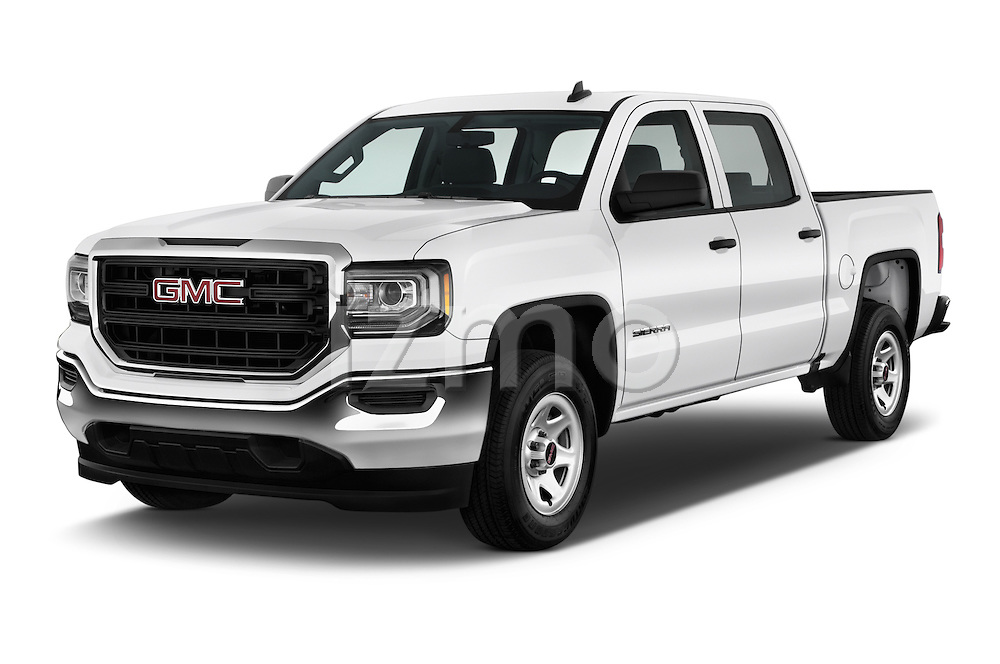 2018 GMC Sierra 1500 2WD Crew Cab Short Box 4 Door Pick-up Angular Front stock photos of front three quarter view