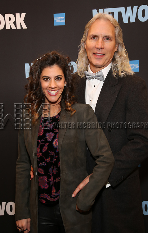 """Jessica Rose and Corey Brunish attends the Broadway Opening Night Performance  for """"Network"""" at the Belasco Theatre on December 6, 2018 in New York City."""