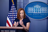 White House Press Secretary Jen Psaki holds a news conference in the James Brady Press Briefing Room of the White House, in Washington, DC, USA, 05 April 2021.<br /> Credit: Michael Reynolds / Pool via CNP /MediaPunch