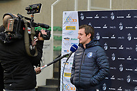 Head Coach Dave Mattheus  (Gent)  pictured during an interview with Eleven Sport before a female soccer game between Eendracht Aalst and AA Gent Ladies on the 10 th matchday of the 2020 - 2021 season of Belgian Scooore Womens Super League , Saturday 19 th of December 2020  in Aalst , Belgium . PHOTO SPORTPIX.BE | SPP | DIRK VUYLSTEKE