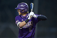 Will Prater (5) of the Western Carolina Catamounts at bat against the St. John's Red Storm at Childress Field on March 12, 2021 in Cullowhee, North Carolina. (Brian Westerholt/Four Seam Images)