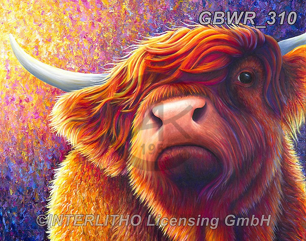Simon, REALISTIC ANIMALS, REALISTISCHE TIERE, ANIMALES REALISTICOS, innovativ, paintings+++++RachelFroud_HighlandCow1,GBWR310,#a#, EVERYDAY