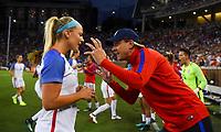 Cincinnati, OH - Tuesday September 19, 2017: Julie Ertz during an International friendly match between the women's National teams of the United States (USA) and New Zealand (NZL) at Nippert Stadium.