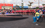 Team Wales look on during the welcoming ceremony <br /> <br /> *This image must be credited to Ian Cook Sportingwales and can only be used in conjunction with this event only*<br /> <br /> 21st Commonwealth Games - Wales Welcoming ceremony - Athletes Village - 03/04/2018 - Gold Coast City - Australia