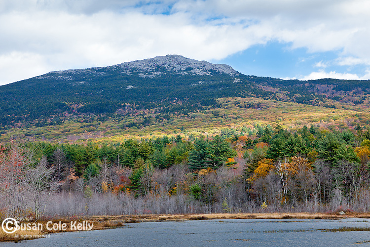 View of Mount Monadnock over Perkins Pond from Troy, NH, USA