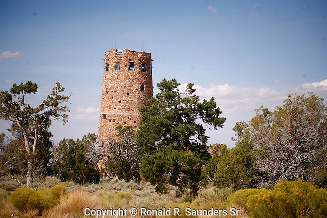 Desert View Watchtower is a 70-foot (21m)-high stone building located on the South Rim of the Grand Canyon within Grand Canyon National Park in Arizona, United States. The four-story structure, completed in 1932, was designed by American architect Mary Colter,