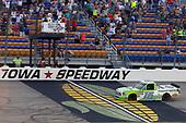 #16: Brett Moffitt, Hattori Racing Enterprises, Toyota Tundra Destiny Homes drives under the checkered flag to win