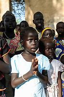 SOUTH SUDAN  Bahr al Ghazal region , Lakes State, town Rumbek, sunday mass at catholic church