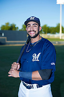 AZL Brewers Julian Jarrard (39) poses for a photo before a game against the AZL Cubs on August 24, 2017 at Maryvale Baseball Park in Phoenix, Arizona. AZL Cubs defeated the AZL Brewers 9-1. (Zachary Lucy/Four Seam Images)